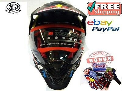 Red Bull  Helmet Motocross Freestyle Enduro Cross  New.