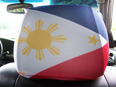 Philippines/Philippino Car/Auto Headrest  Flags--------2 PIECES