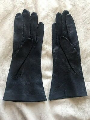 Fownes Blue Leather Gloves