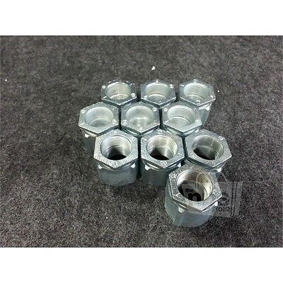 Box of 10 Crouse-Hinds 192 3-Piece 1in Coupling, Rigid/IMC, Iron