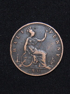 1891 Victoria Halfpenny Lovely coin