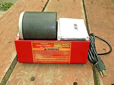Excellent Chicago Electric # 46376 3 Lb. Rotary Rock Tumbler From Kansas Estate