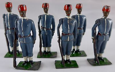 Britains vintage lead Egyptian Infantry, set of six