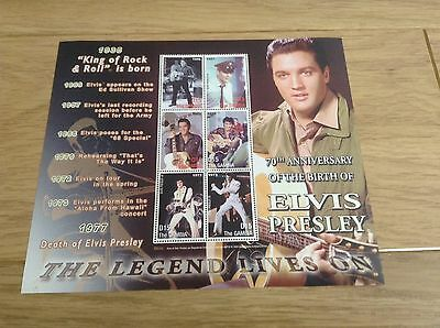 70th ANNIVERSARY OF THE BIRTH OF ELVIS PRESLEY STAMP SHEET