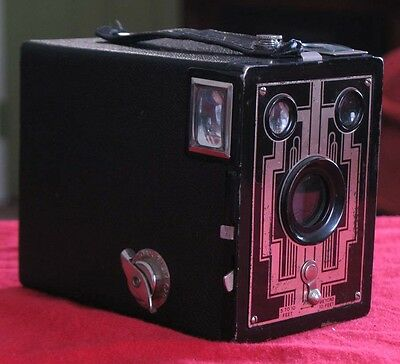 1930s Kodak Six-20 Brownie Box Camera Art Deco Style