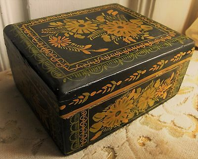 Antique Wooden Sewing Thread Box