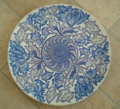 Charlotte Rhead Large Peony charger 4016 Crown Ducal