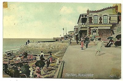 Norfolk postcard Hunstanton the Front