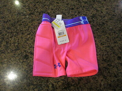 Under Armour Softball Padded Sliding Compression Shorts YSM girl heatgear fitted