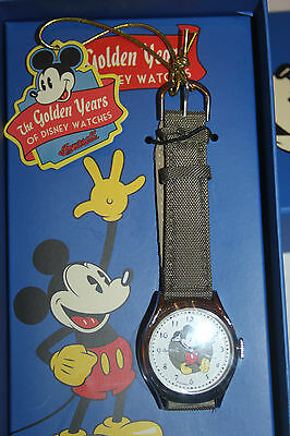 Mickey Mouse Golden Years Relaxation Ingersoll Watch - New in Box