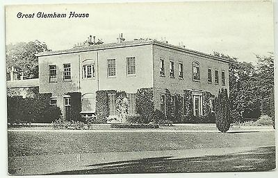 Suffolk postcard Great Glemham House