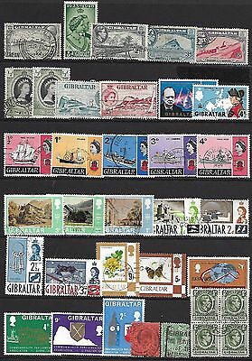 GIBRALTAR A selection of (35) stamps