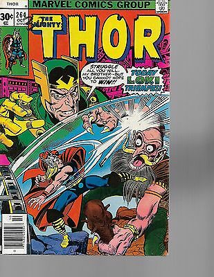 the mighty thor #264  marvel 1977  vg condition  FREE SHIPPING