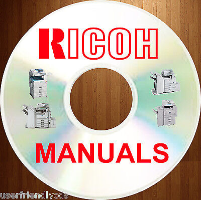 Ricoh COLOR COPIER Copiers Manual SERVICE MANUALS & PARTS CATALOGS on a DVD