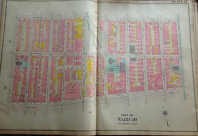 1907 Philadelphia Pa Daniel Webster Public School Gerard Av-Master St Atlas Map