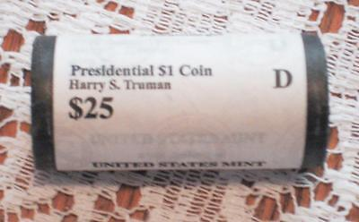 1 Harry S. Truman ( D ) US Mint Presidential Roll of Dollar $1 Coins