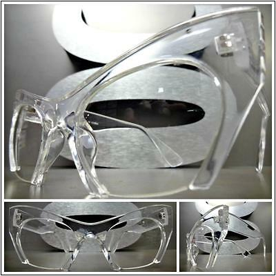 CLASSIC VINTAGE 60s RETRO CAT EYE Style Clear Lens EYE GLASSES Transparent Frame
