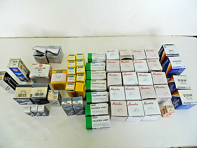 New old Stock  LOT of 55  Assorted Projection Lamp Projector Bulbs