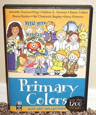 Primary Colors LDS Clip Art on CD-Rom Covenant Mormon