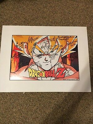 Dragonball Z Poster Signed By Original Cast