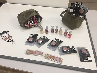 various make up items
