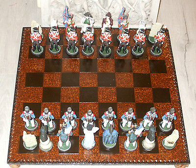Waterloo Hand Painted Chess Set - Historically Themed Chess Set - New