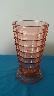 Vintage Pink Depression Indiana Glass Vase Tearoom