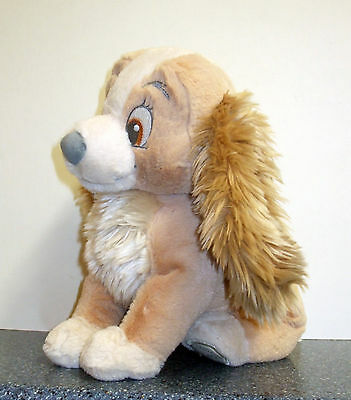 """Lady and the Tramp - Plush Soft Toy Disney Store Exclusive 10"""" tall"""