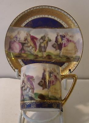 Continental Czechoslavakian Beehive Cup And Saucer