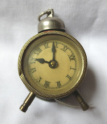 Antique Vtg Alarm Clock Cloth Sewing Tape Measure Germany