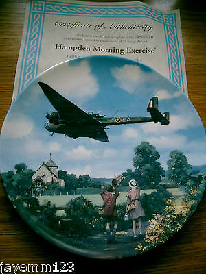 Royal Doulton Plate Plane Heroes Of The Sky Hampden Morning Exercise Brad Ex