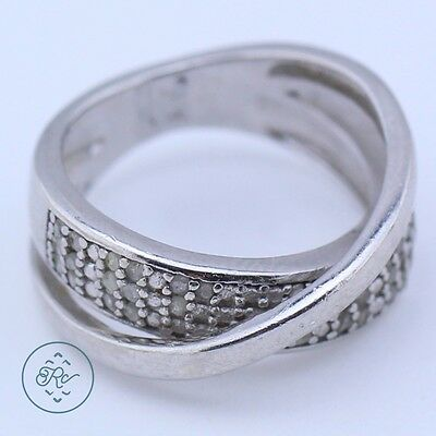 Sterling Silver | VICTORIA TOWNSEND Smooth DIAMOND Crossover | Ring