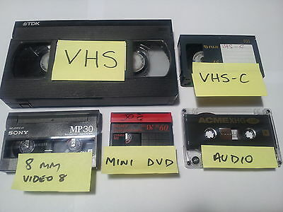 VIDEO TAPES TRANSFERED to DVD --- 1 Tape To 1 DVD Transfer