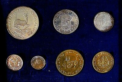 1962 South Africa 7 Piece w/Silver Proof Coin Set    #a ** FREE U.S. SHIPPING **