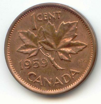 Canada 1959 Canadian PENNY one cent 1c EXACT COIN SHOWN