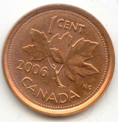 Canada 2006 1 Cent Canadian Penny (NON-magnetic) 1c Coin *EXACT* PENNY