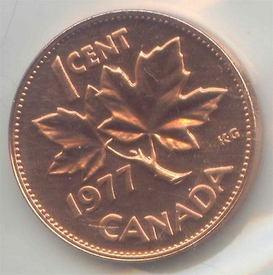 Canada PL 1977 1 Cent Canadian Penny in RCM Plio *EXACT* COIN SHOWN