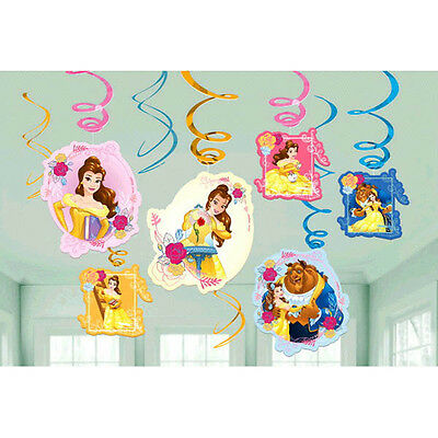 BEAUTY AND THE BEAST Dream Big SWIRL DECORATIONS (12) ~ Birthday Party Supplies