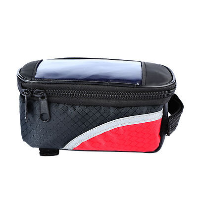 Cycling Bike Bicycle Waterproof Front Frame Pannier Tube Bag For Cell Phone