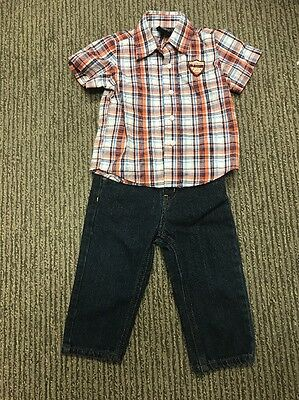 Lot of 2 Items Shirt And Pants Toddler Baby Boy 18 Months