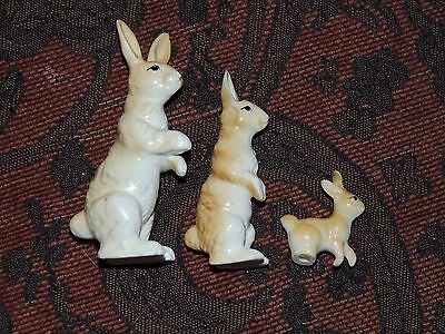 Vintage Jack Rabbit Family Figurines Similar To Hagen Renaker  Bone China