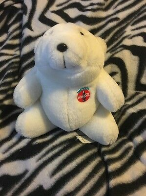 Cute Little Coca-Cola Polar Bear Plush 7 Inches Seated