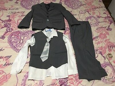 Boys Age 6 Years Grey 5 Piece Suit