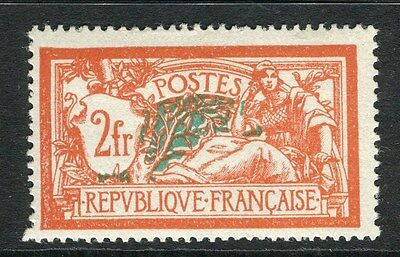 FRANCE;   1906 early Merson issue Mint hinged 2Fr. value,  Shade