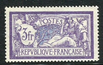 FRANCE;   1906 early Merson issue Mint hinged 3Fr. value,
