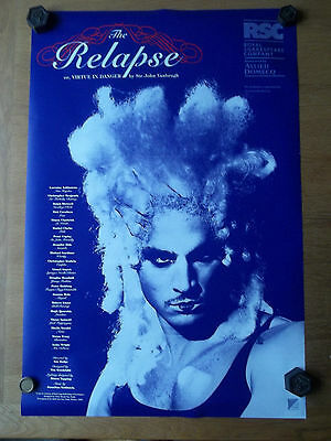 RSC theatre poster THE RELAPSE by Sir John Vanbrugh Swan Theatre 1995 unused