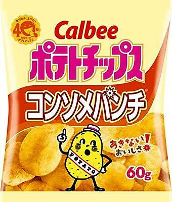 NEW Japanese Snack POTATO CHIPS by Calbee (chips)/Consomme taste 60g x 12 bag