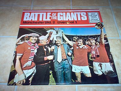 Battle Of The Giants. Manchester Utd v Liverpoool. 1977 FA Cup Final . Record