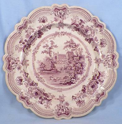 Royal Sketches Mulberry Transferware Plate Antique Windsor Castle