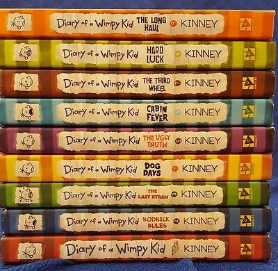 Diary Of A Wimpy Kid Books by Jeff Kinney Lot 1-9 Hardcover